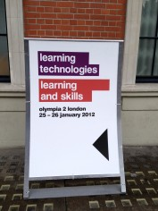 Learning Technologies Conference sign